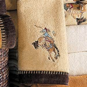 cowboy bath towels rustic cowboy rider rattan embroidered towel