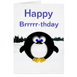 happy penguin greeting card zazzle