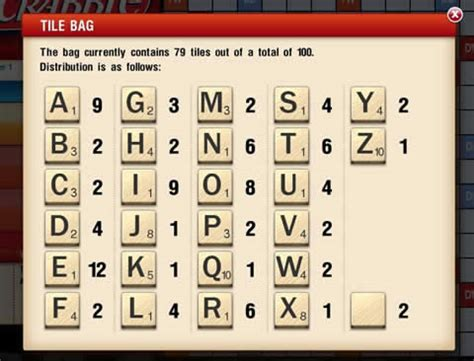 how many of each letter in scrabble scrabble for pc play now