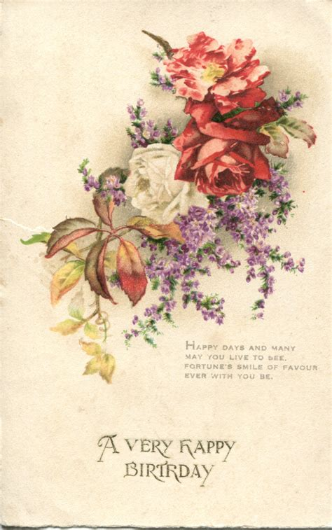 vintage card a collection of vintage floral birthday postcards part 5