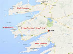 where is on map kenmare ireland map