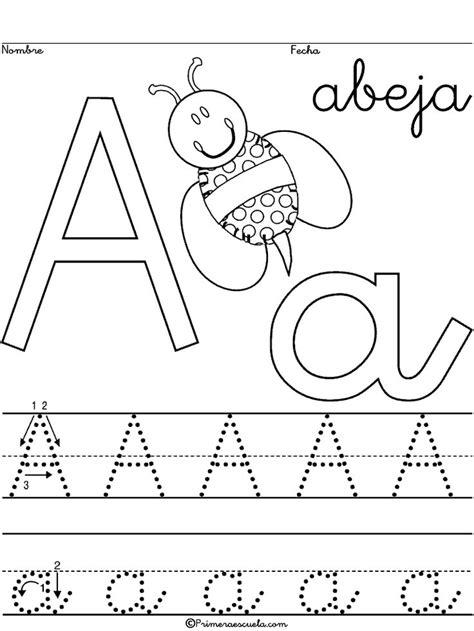 Caligrafía Escritura Escolar Abecedario Letra A Abeja