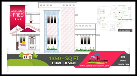 1370 sq ft free kerala home design plans within your