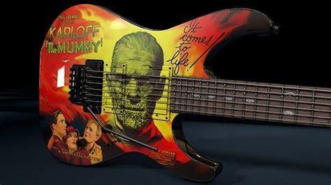 kirk hammett kh3 kirk hammett esp kh 3 karloff mummy guitar 3d model