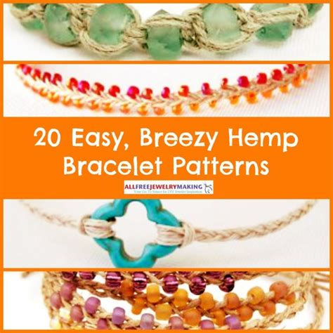 Easy Macrame Bracelet Patterns - 20 easy breezy hemp bracelet patterns