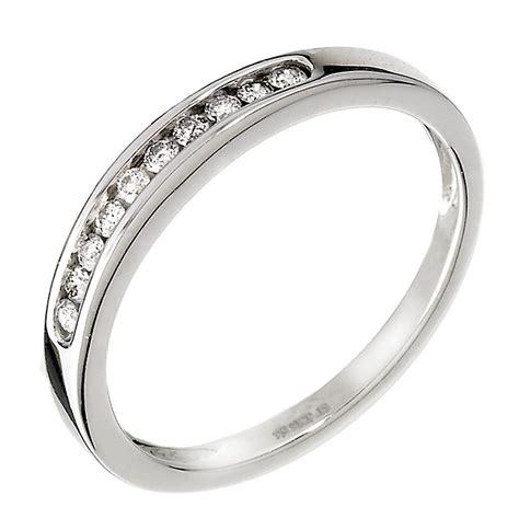 9ct white gold 15pt eternity ring ernest jones