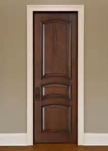 Interior Doors Solid Wood Interior Door Custom Single Solid Wood With Walnut Finish Artisan Model Gdi 3030