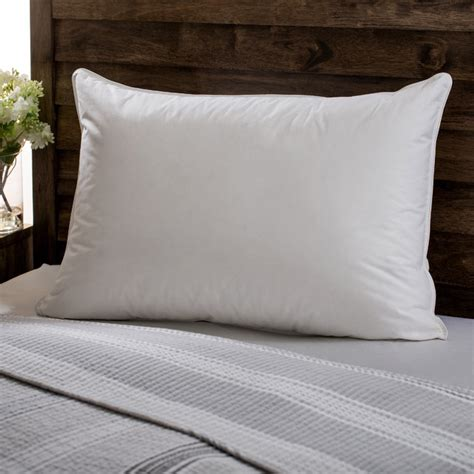 bed pillow european heritage down opulence hypoallergenic firm white