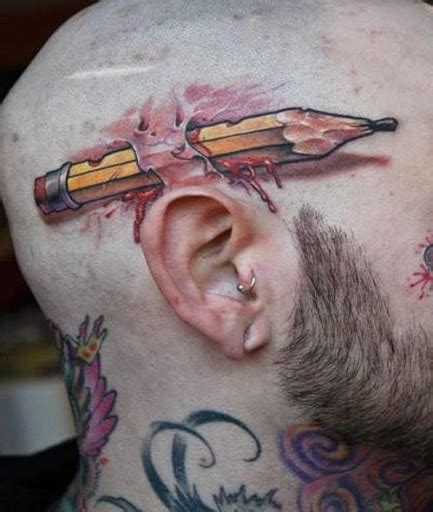 3d tattoo on head 41 amazing new realistic 3d tattoo designs