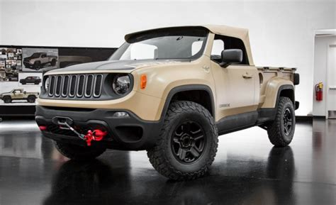 new jeep comanche jeep revives the comanche as a renegade based trucklet