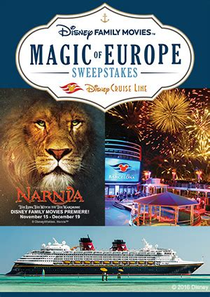 Europe Sweepstakes - win a disney cruise in the quot disney family movies magic of europe sweepstakes quot