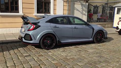 grey honda honda civic type r sonic grey