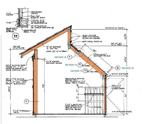 shed roof section 8 215 12 clerestory shed plans blueprints for storage shed