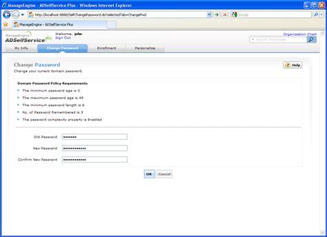 tool reset ad password web based windows active directory password change let
