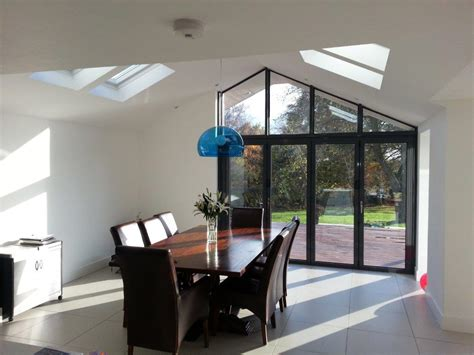 Vaulted Ceiling Kitchen Extension by House Refurb Rear Extension And Landscaping Maulden