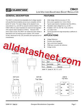 transistor w431 datasheet cm431 datasheet pdf chion microelectronic corp