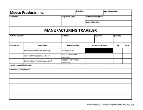 production order form template best photos of traveler form template pressure