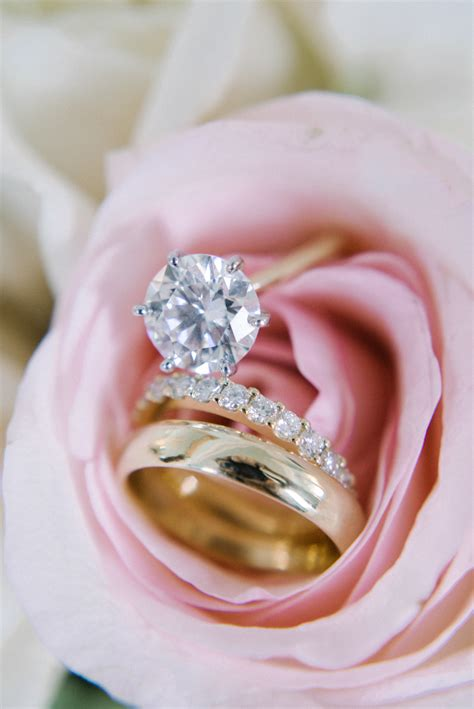 engagement rings and flowers 15