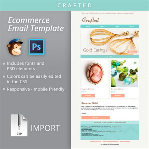 mailchimp ecommerce email template email templates on