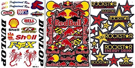 Stiker Sponsor Motogp Sticker Sponsor Motogp 3a03 motocross race graphics kits motogp decals helmet car