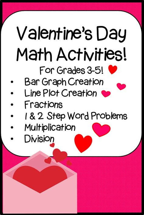 s day math activities valentines 2 step and