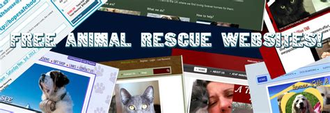 free animal rescue websites home