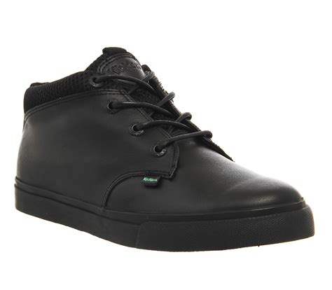 Kickers Low Suede Black kickers tovni shoot sneakers black leather casual