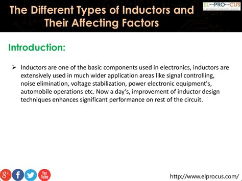 various types of inductor the different types of inductors and their affecting factors презентация онлайн