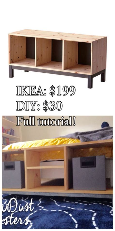 nornas bench diy bench with storage compartments ikea nornas look