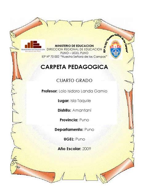 carpeta pedagogica de primaria documentos carpeta pedagogica modelo para primaria