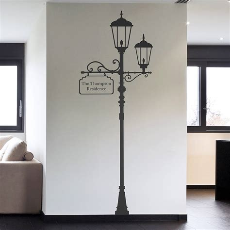 wall sticker for personalised l post wall sticker by oakdene designs notonthehighstreet