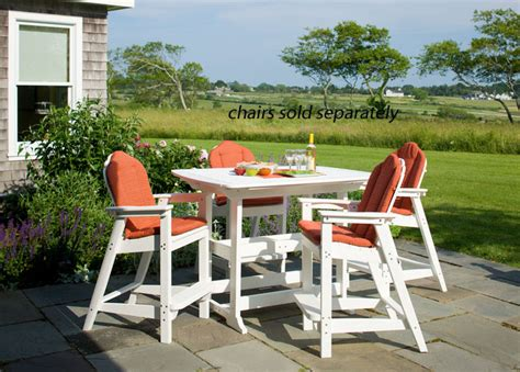envirowood outdoor furniture seaside casual portsmouth 56 quot x 42 quot outdoor bar table