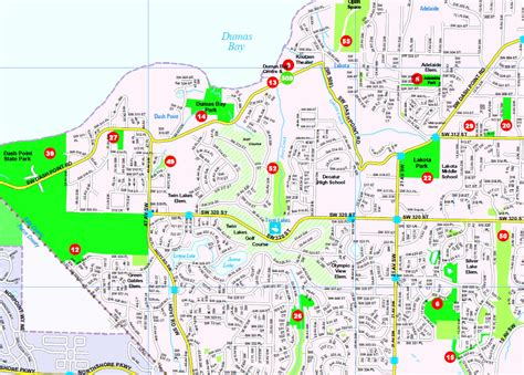 seattle map federal way dumas bay park wildlife sanctuary federal way