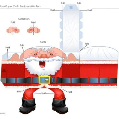 free printable santa claus paper craft free christmas
