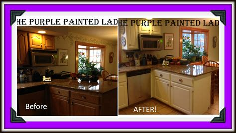 how to paint brown cabinets white january 2014 the purple painted lady