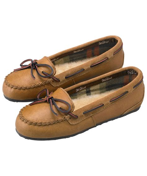 womens leather slippers woolrich womens elk leather slippers ebay