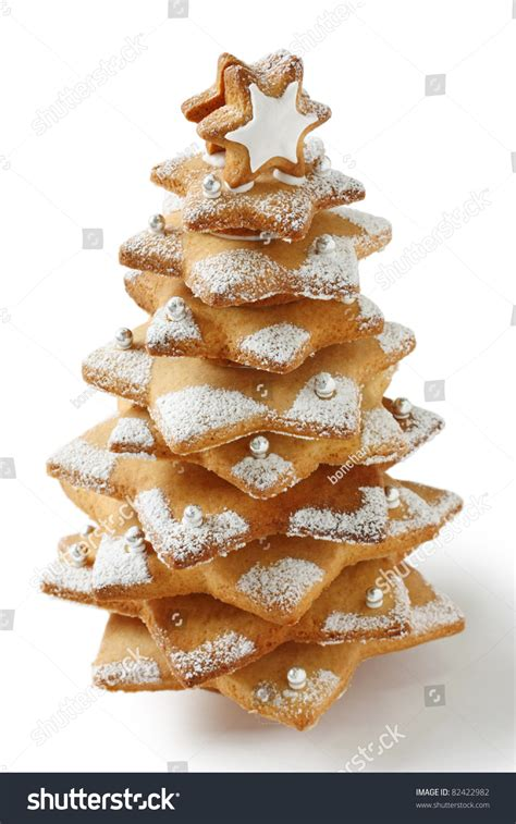 cookie christmas tree made by star stock photo 82422982