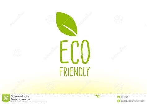Eco Friendly Green Leaf Text Concept Logo Icon Design Stock Vector Illustration Of Logo Green Concept Logo Vectors