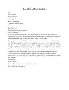 Sle Contract Termination Letter by Service Contract Termination Letter Hashdoc