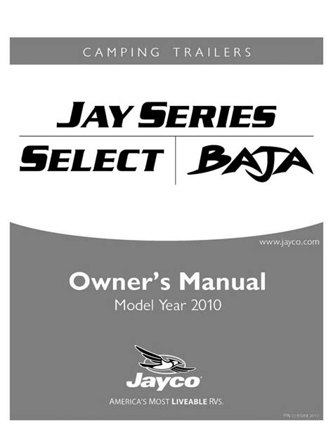 Jayco Fold Down Pop Up Tent Trailer Owners Manual 2010
