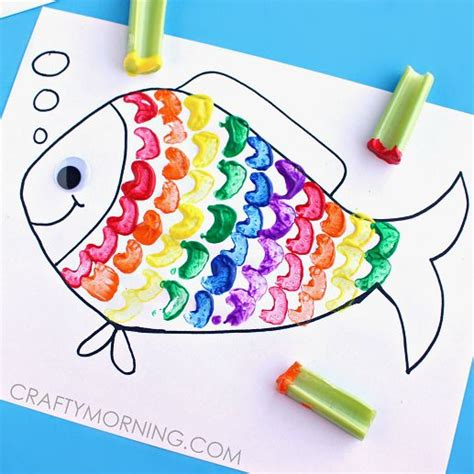 celery sting rainbow fish craft for celery