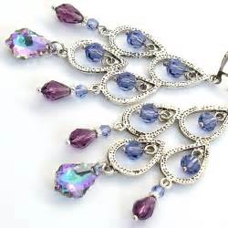 Purple Chandelier Earrings Martakyart Fashion Wedding Jewelry Uniquely Handcrafted