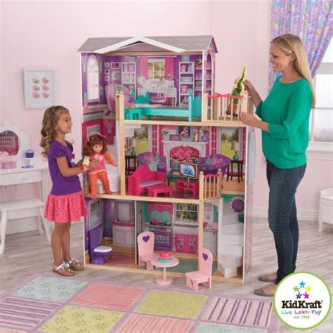 18 inch doll houses kidkraft elegant 18 inch doll manor dolls house dollhouse furniture miniature ebay