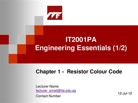 resistors slideshare chapter1 resistors color coding