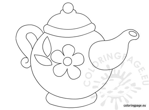 teapot coloring page teapot template free images