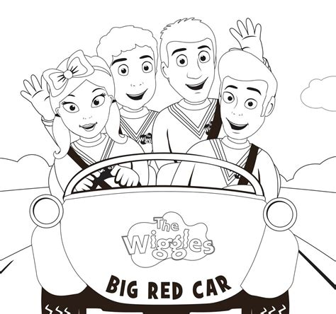 wiggles halloween coloring pages 89 big red car the wiggles coloring pages for kids