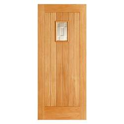 Small External Door Exterior Oak Door Vertical Panels Small Glazed