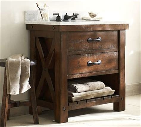 single sink consoles bathroom benchwright single sink console rustic mahogany stain