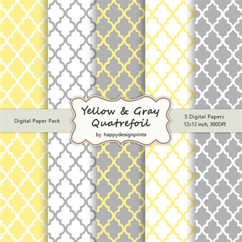yellow moroccan pattern yellow gray quatrefoil moroccan tiles pattern wallpaper