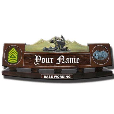 wooden name plates for desk carved desk name plate combat medic